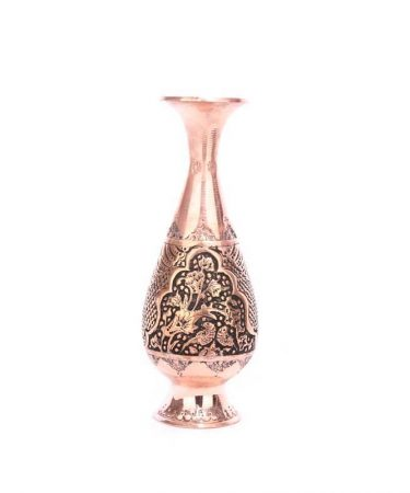 گلدان قلم زنی مسی