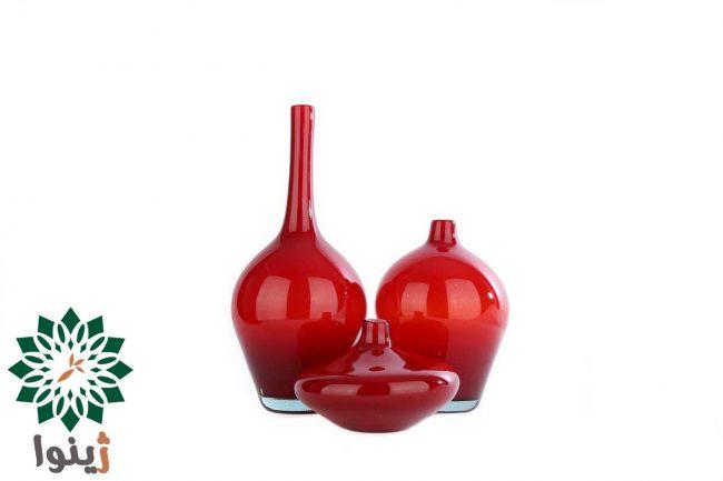 گلدان شیشه ای مدل سالنگ دو پوست