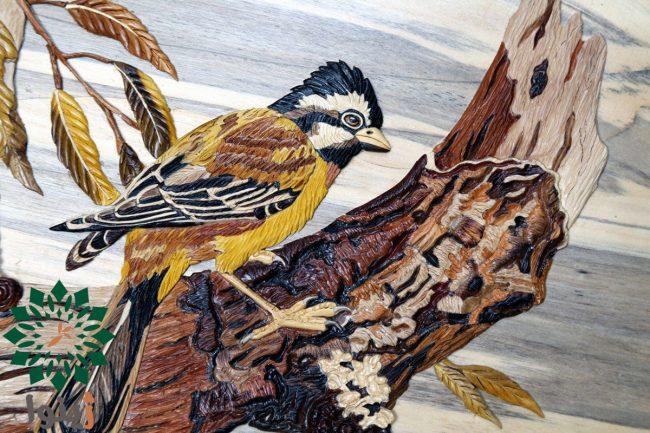 تابلو نفیس پرنده و شاخه