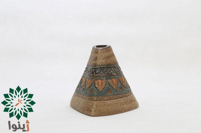 گلدان سفالی مدل مثلث کوچک طرح سیلک