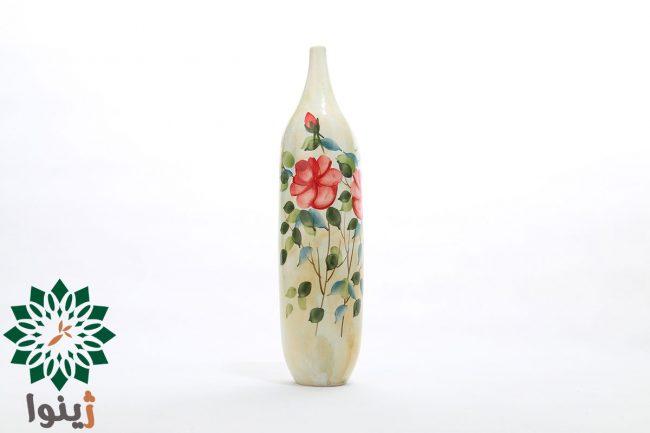 گلدان سفالی طرح گل سرخ