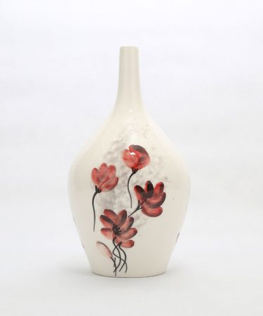 گلدان سفالی طرح گل