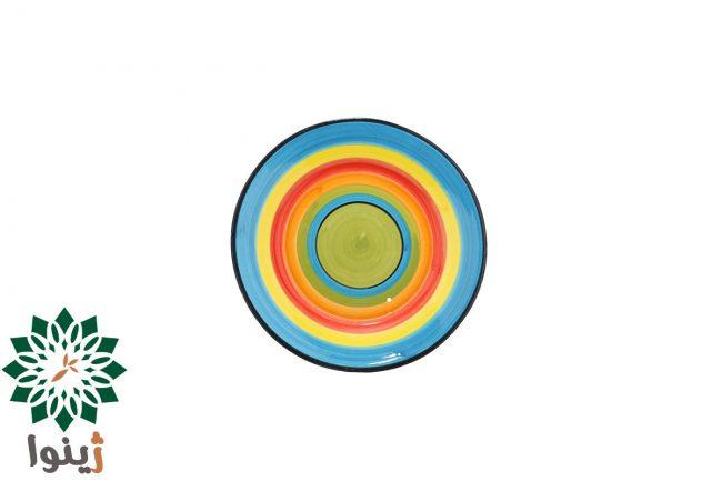 پبش دستی سفالی مدل رنگارنگ