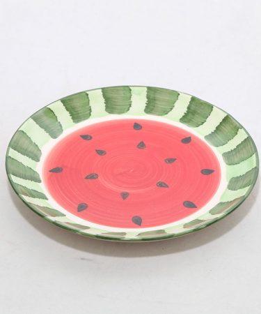 پیش دستی سفالی طرح هندوانه